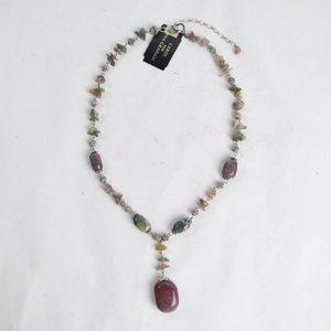 Carol for Eva Graham Genuine Stone Necklace
